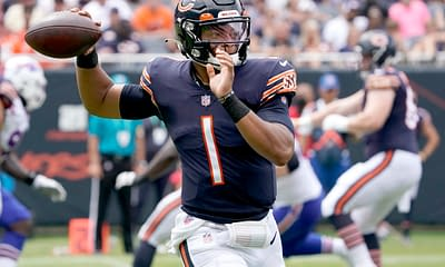 Yahoo daily fantasy NFL Picks Week 3 ownership rostership Justin Fields Lamar Jackson free expert rankings projections strategy tips advice