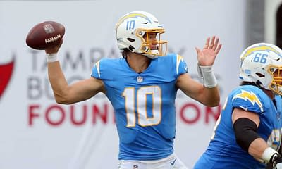 NFL Player prop bets betting picks Justin Herbert Week 4 MOnday Night football Raiders vs. Chargers over/under best bets predictions picks and parlays