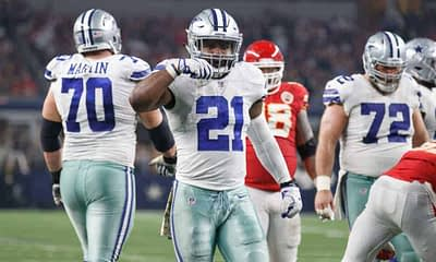 Thanksgiving Day Slate NFL DFS Picks DraftKings FanDuel Lineups Strategy Daily Fantasy Football Cowboys Lions Texans Football Team Ezekiel Elliott Cheat Sheets