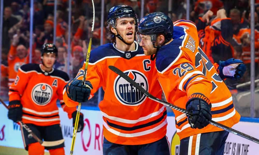 Awesemo's free DraftKings NHL DFS Picks cheat sheet for fantasy hockey lineups based on expert projections featuring Connor McDavid 4/19/21