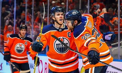 DraftKings & FanDuel NHL DFS picks for daily fantasy hockey lineups on Saturday May 8 with expert projections, ownership and top stacks rankings with Connor McDavid