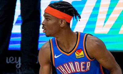 NBA DraftKings DFS daily fantasy basketball lineups. NBA Playoff cheat sheet 10/21/21. Awesemo's picks and projections with Shai Gilgeous-Alexander.