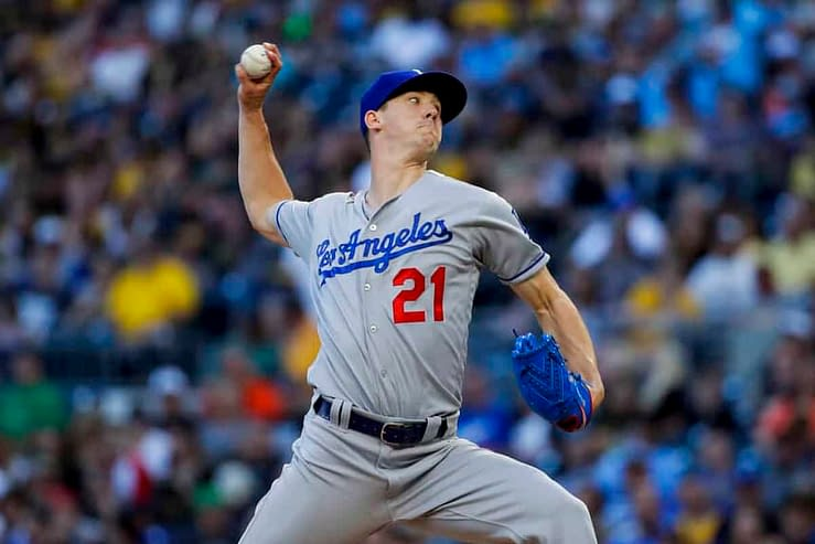 Best MLB bets today player prop betting picks odds lines predictions over/under parlays Walker Buehler Over 5.5 Strikeouts home run ALCS NLCS Dodgers Braves Astros Red Sox