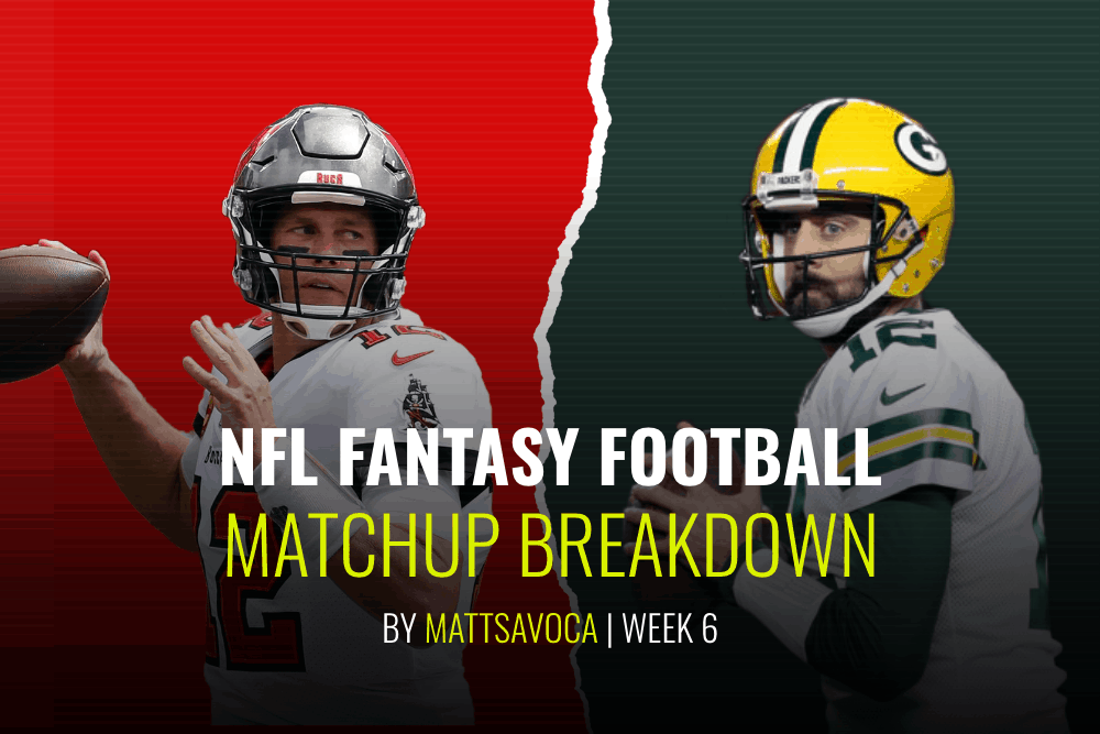 Week 6 NFL daily fantasy football matchups breakdowns. Matt Savoca gives in depth analysis of every game for fantasy & NFL DFS slates.
