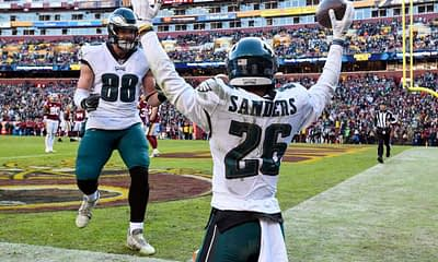 Fantasy Football Top 5 Sleeper RBs rankings for 2021 Miles Sanders based on expert projections and simulations for Yahoo, ESPN, CBS, best ball and dynasty football leagues