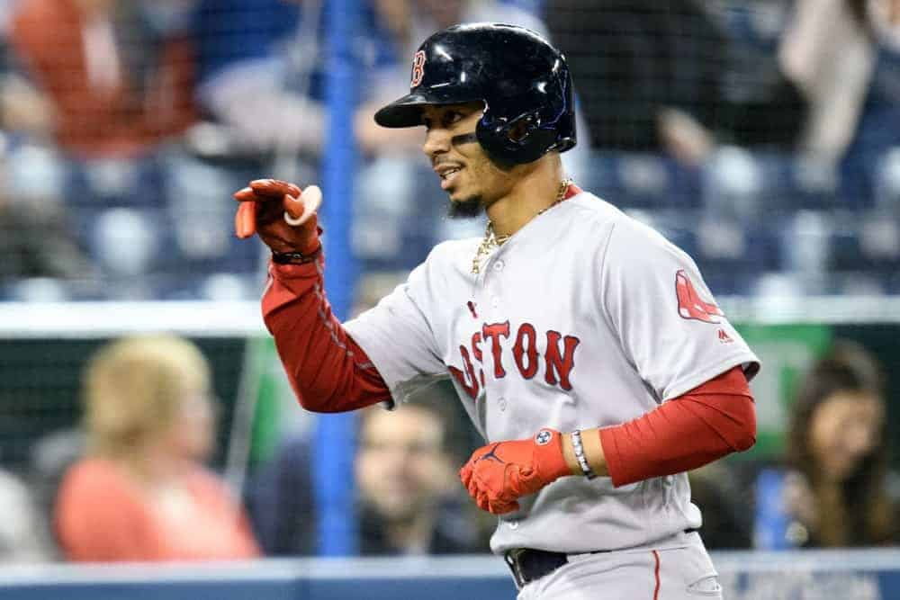 FantasyDraft DFS MLB picks like Mookie Betts for September 17 MLB DFS based on projections and ownership from the number 1 DFS player.