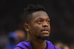 """ESPN's Mike Greenberg is going viral for an incredibly awkward moment with Julius Randle during the new set of """"NBA Countdown"""""""