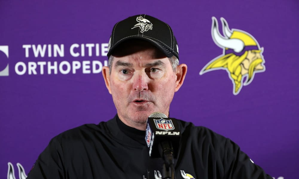 Minnesota Vikings head coach Mike Zimmer speaks on the viral shoving match that took place with Kirk Cousins following Sunday's win