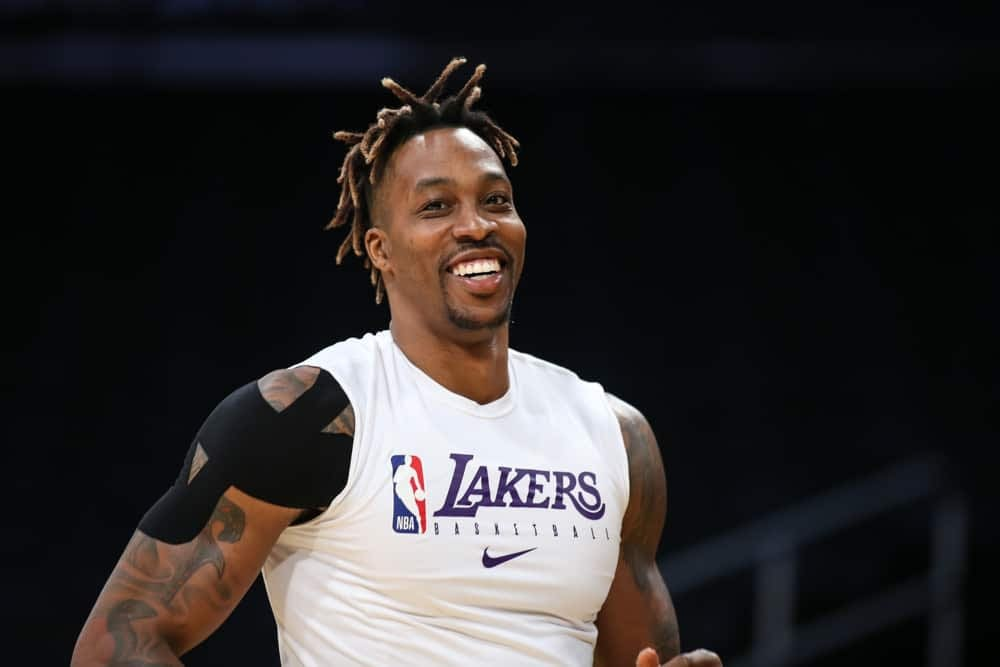 DraftKIngs & FanDuel NBA Fantasy Projections for DFS basketball lineups on Thursday March 25 based on Awesemo's Boom/Bust tool featuring Dwight Howard