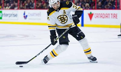 Awesemo's free FanDuel NHL DFS Picks cheat sheet for fantasy hockey lineups based on expert projections featuring Patrice Bergeron 4/13/21.
