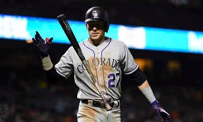 DraftKings MLB DFS cheatsheet for 8/25/20, picks like Trevor Story based on projections and ownership from the world's No. 1 DFS player.