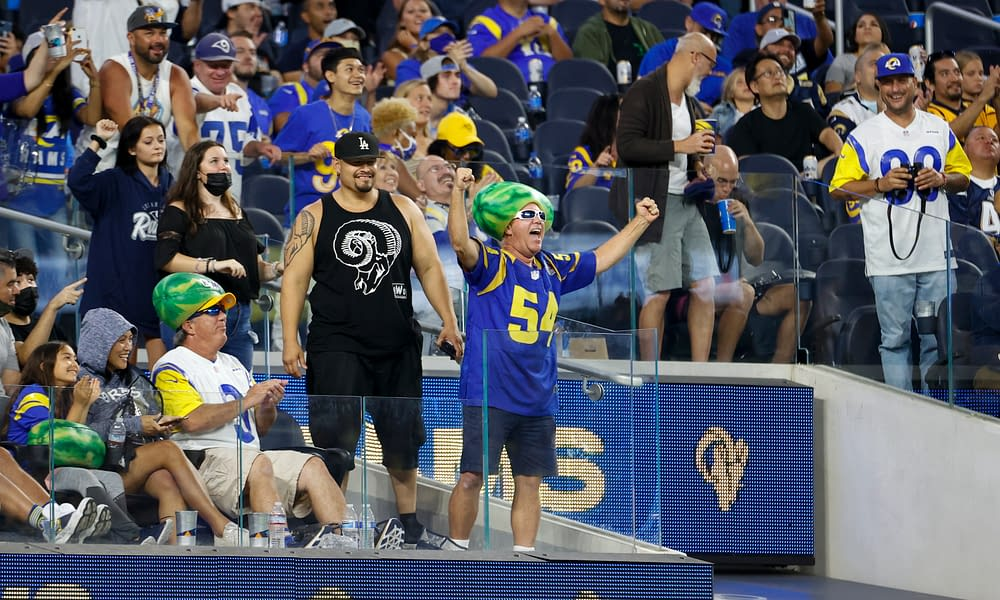 A massive brawl occurred during the first pre-season game at SoFi stadium between the Rams and Chargers on Saturday night.