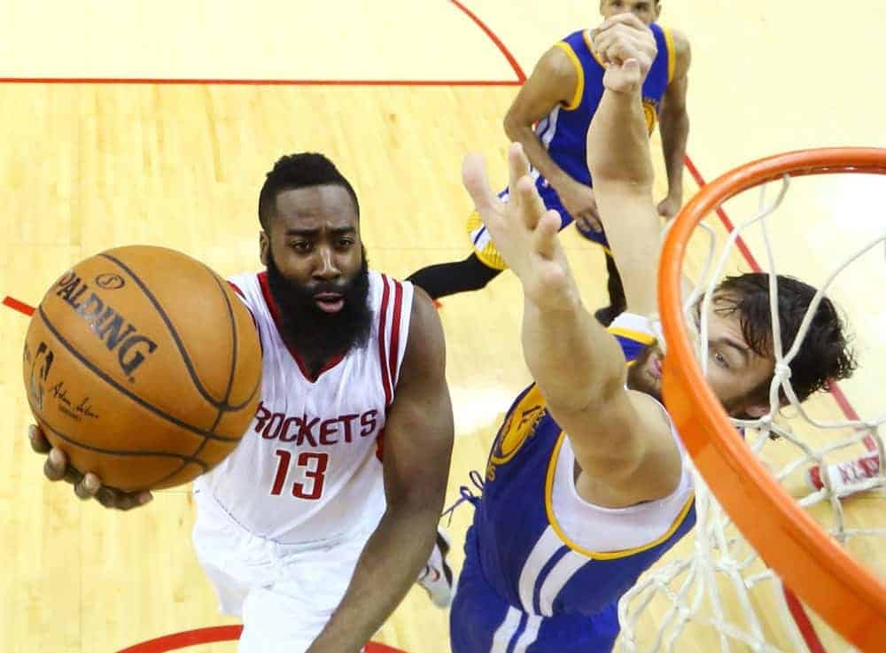 Greg Ehrenberg gives out his favorite NBA DFS Picks to start your DraftKings + FanDuel playoff lineups.  James Harden + Goran Dragic.