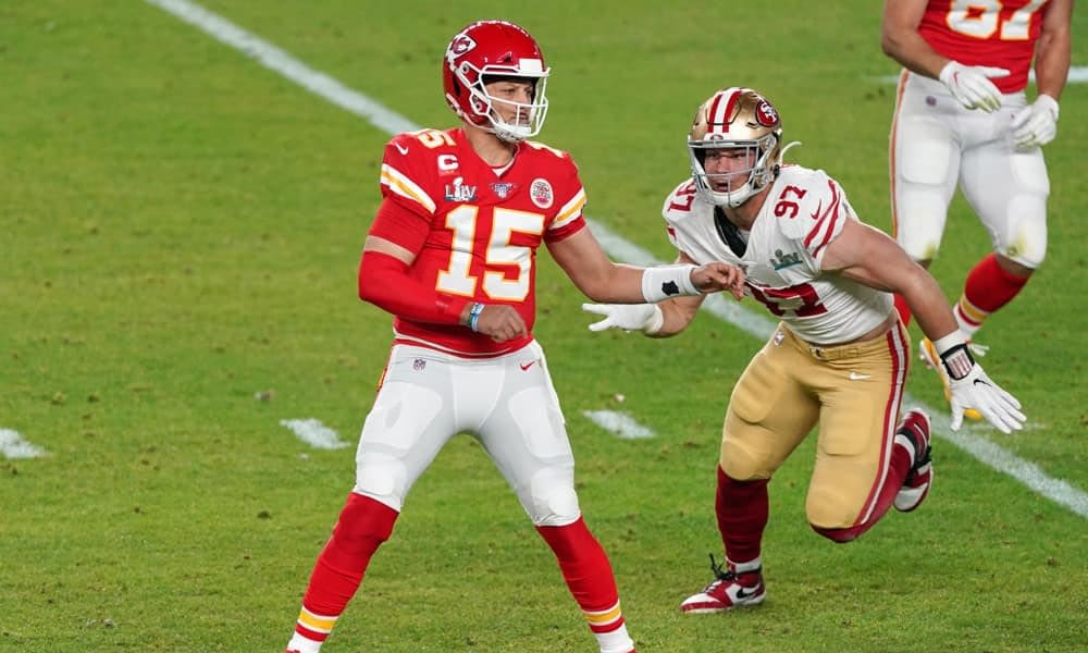 NFL DFS Picks for DraftKings SUper Bowl LV daily fantasy football lineups Patrick Mahomes