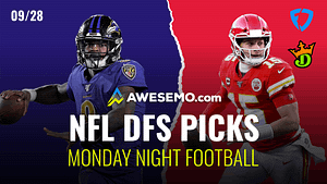 Matt Gajewski & Kyle Dvorchak break down the Monday Night Football slate between the Chiefs & Ravnes for your NFL DFS lineups on DraftKings +