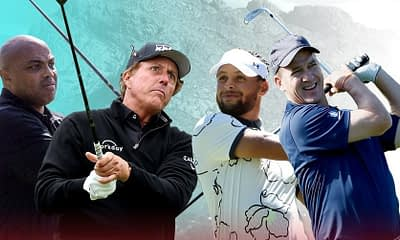 Julian Edlow breaks down the best golf betting picks for The Match III | Charles Barkley, Stephen Curry, Peyton Manning + Phil Mickelson