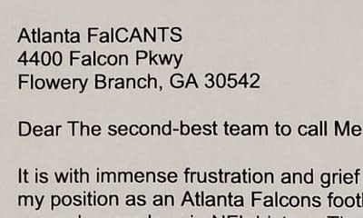An Atlanta Falcons fan wrote a hilarious resignation letter resigning from Falcons fandom after they blew another huge lead