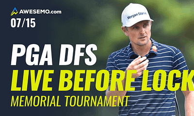 The PGA DFS Live Before Lock with Ben Rasa and Jason Rouslin previewing The Memorial and giving picks for DraftKings, FanDuel & SuperDraft.