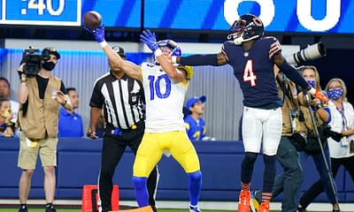 FanDuel DraftKings NFL DFS Picks Week 6 first look projections ownership lineups optimal optimizer free advice tips cheat sheet Cooper Kupp value plays GPP tournament cash