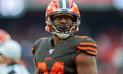 NFL DFS Picks FanDuel NFL Daily Fantasy Lineups Week 17 Top 5 Rankings Nick Chubb ownership projections