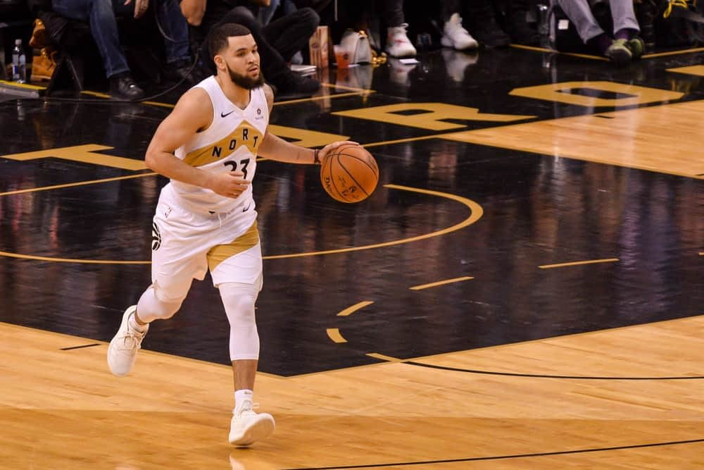 DraftKings & FanDUel NBA Fantasy projections and expert picks based on Awesemo's rankings and boom/bust tool featuring Fred VanVleet