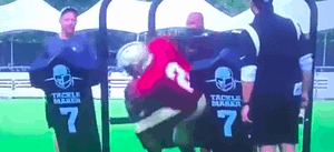 New Orleans Saints quarterback Jameis Winston is the butt of many jokes yet again after a video circulated of him failing through a tackling machine