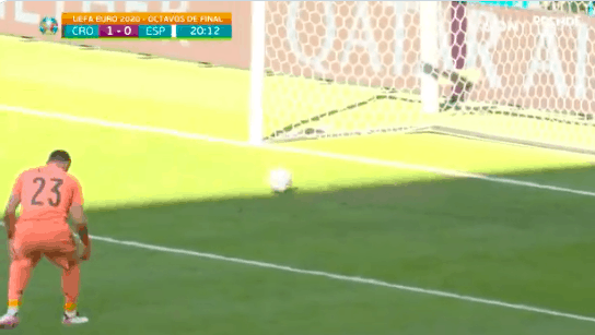 Spain found a way to give up the most unusual own goal I've ever seen during the Euro 2020 game against Croatia on Monday
