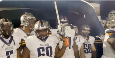 The Mississippi Gulf Coast Bulldogs tried to bring a chainsaw on the field