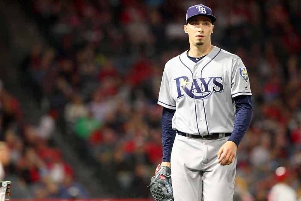 Yahoo DFS MLB picks like Blake Snell for September 23 MLB DFS based on projections and ownership from the number 1 DFS player.