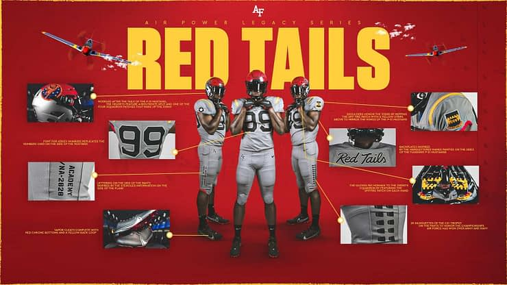 Tuskegee Airmen will be honored by the Air Force football team's new 2020 Air Power Legacy Series uniforms, debuting Oct. 3.