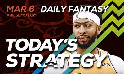 FREE Awesemo YouTube NBA DFS picks & content for 3/6/20 daily fantasy lineups on DraftKings + FanDuel including Anthony Davis and more!
