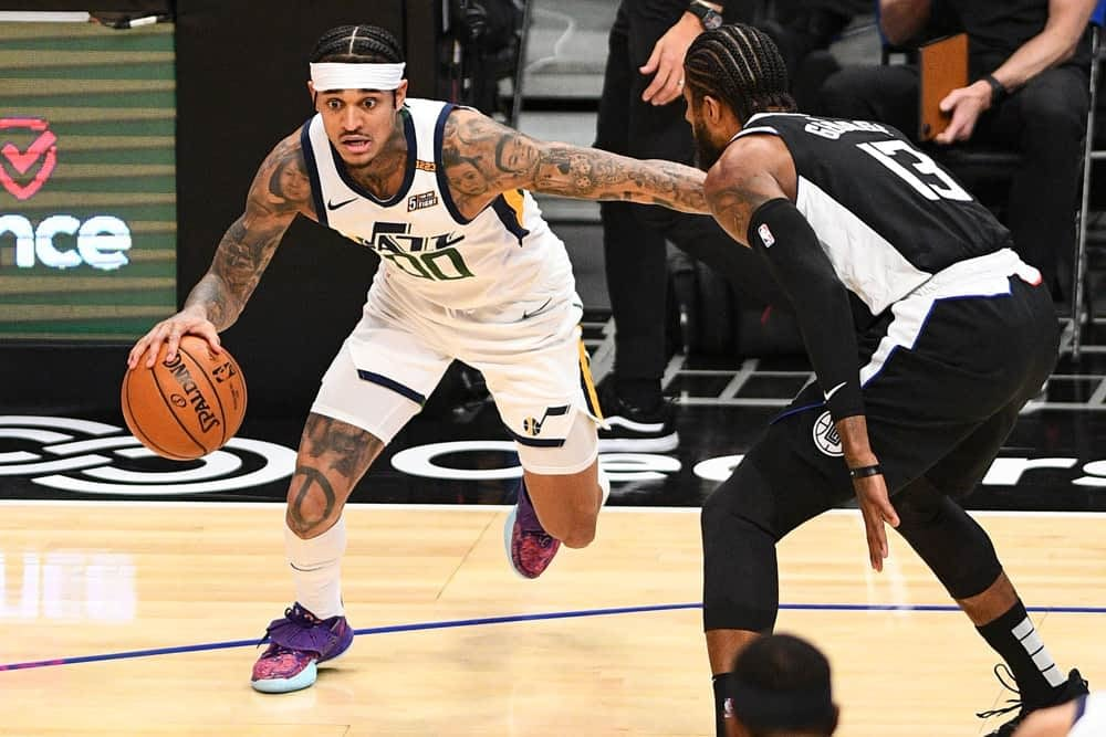 NBA DraftKings DFS lineup picks daily fantasy basketball cheat sheet tonight Wednesday May 12 with Jordan Clarkson based on expert projections and ownership