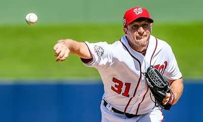 DraftKings MLB DFS cheatsheet for 9/2/20, picks like Max Scherzer based on projections and ownership from the world's No. 1 DFS player
