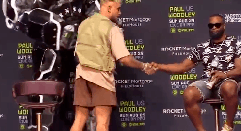 Youtuber Jake Paul got UFC veteran Tyron Woodley to agree to a ridiculous tattoo bet for their upcoming exhibition boxing match in August