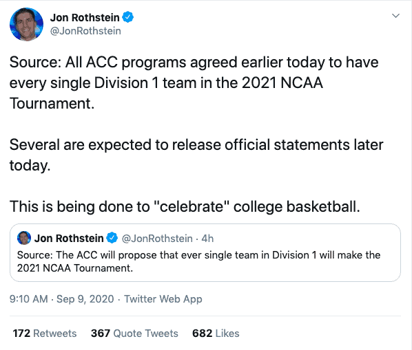 March Madness may be even CRAZIER in 2021 if the NCAA approves the current plan, which would create a 353-team tournament