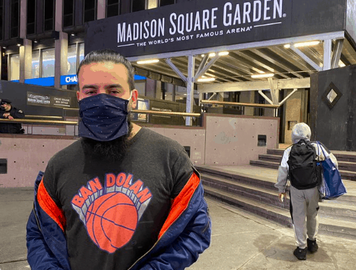 Knicks owner James Dolan had fan with 'Ban Dolan' shirt kicked out of the game and escorted out of Madison Square Garden by security