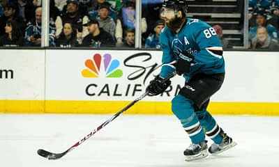 DraftKings & FanDuel NHL DFS picks like Brent Burns for today's NHL DFS slate based on projections and rankings from top DFS player.