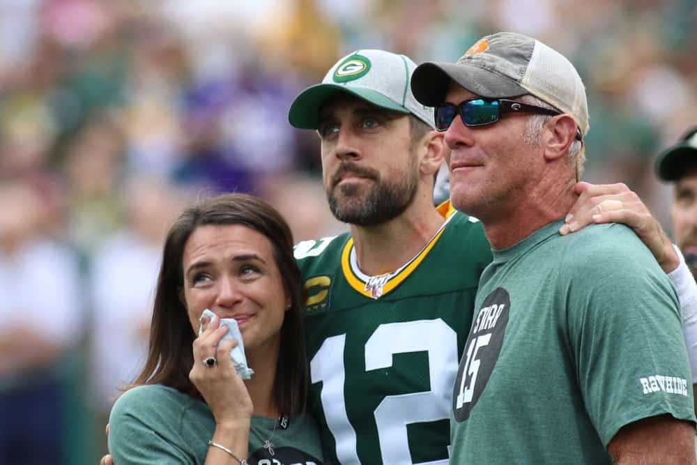 Aaron Rodgers and Brett Favre Green Bay Packers