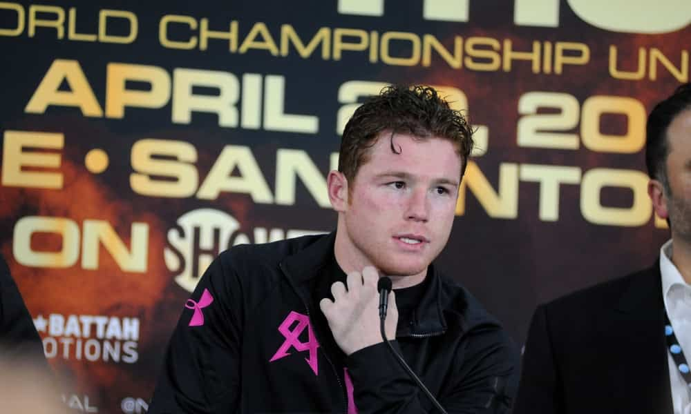 Boxing superstar Canelo Alvarez left a bruise on Caleb Plant's face during a scuffle that happened at the media event on Tuesday afternoon