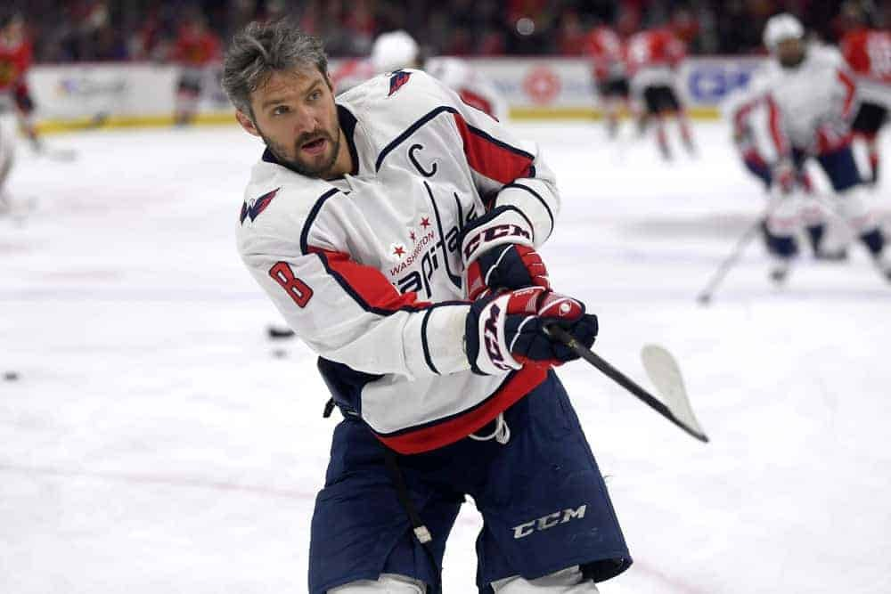 NHL DraftKings DFS Picks cheat sheet for daily fantasy hockey lineups on Friday APril 2 with Alex Ovechkin based on Awesemo's expert projections and rankings