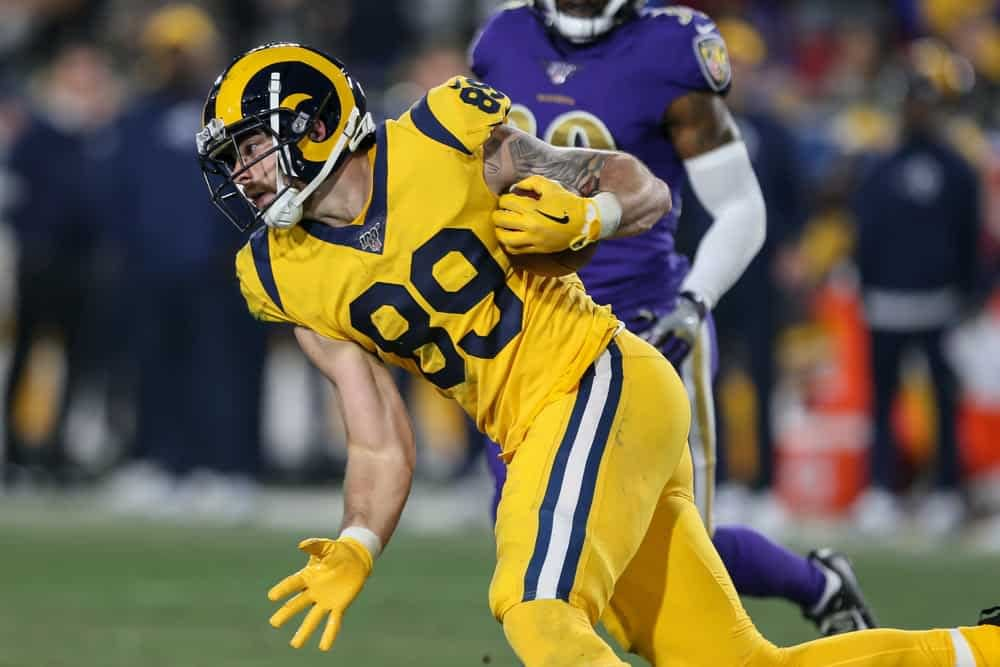 Sam Smith gives out fantasy football week 15 waiver wire targets, including Tyler Higbee for your fantasy football lineups on ESPN & Yahoo