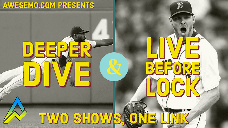 Our MLB Deeper Dive show on the Awesemo YouTube channel preps you for the coming MLB DFS slate on DraftKings, FanDuel, Yahoo and FantasyDraft