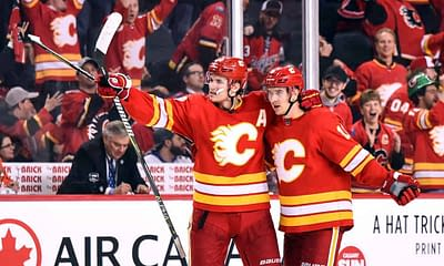 NHL DFS picks DraftKings FanDuel lineup optimizer optimal today tonight fantasy hockey Matthew Tkachuk Flames top stacks best bets betting picks odds lines parlays predictions free expert rankings advice tips strategy
