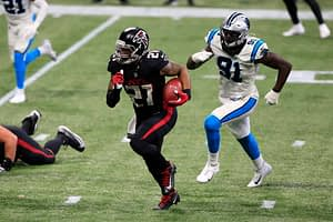 Awesemo's NFL picks + NFL predictions Week 8 Thursday Night Football Panthers vs. Falcons using Awesemo's OddsShopper tool Todd Gurley 10/29