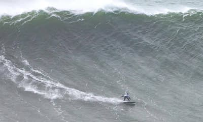 The record is for a woman, but Maya surfed the largest wave of any surfer this year. This incredible moment is an absolute must see.