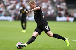 FanDuel UCL DFS Picks Cheat sheet for daily fantasy soccer lineups on WEdnesday April 14 featuring Kevin De Bruyne