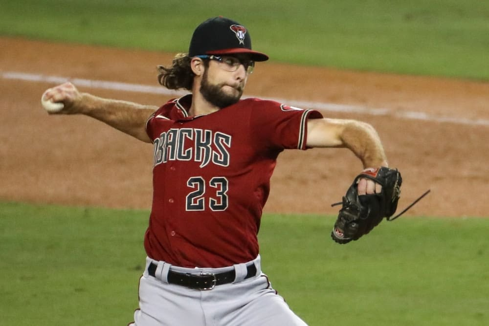 Daily Fantasy baseball starting pitchers for MLB DFS lineups today Saturday May 1 with Zac Gallen based on expert projections and ownership rankings