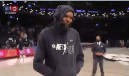 Brooklyn Nets superstar Kevin Durant had a perfect response when a reporter asked about his achilles injury after Game 2 on Monday