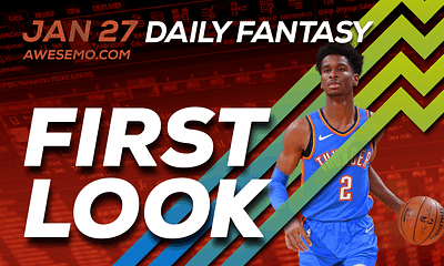 FREE Awesemo YouTube NBA DFS picks & content for daily fantasy lineups on DraftKings + FanDuel with Shai Gilgeous-Alexander + more!