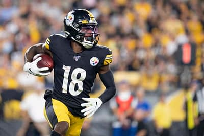 Free expert fantasy football rankings Diontae Johnson 2021 steelers top wide receiver picks predictions projections ownership Yahoo ESPN CBS UnderDog best ball half-ppr ppr